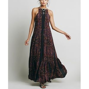 Free People Fragile Hearts Maxi Dress Size M
